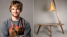 Richard Staples and his Luminescence table, £895, lydiates.co.uk (Photo: Dave Mackay) Financial Times, Table, Design, Tables, Desk, Tabletop, Desks