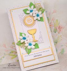 Emilia tworzy: Pierwsza Komunia Święta/Kartka komunijna/Card for Holy Communion Tableware, Dinnerware, Tablewares, Place Settings