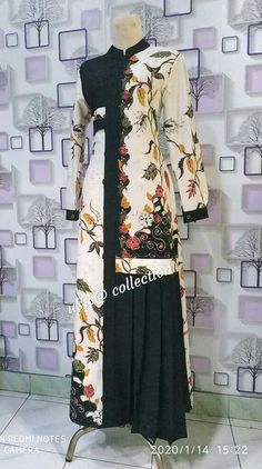 Frock Fashion, Batik Fashion, Indian Fashion Dresses, Muslim Fashion, Hijab Fashion, Stylish Dress Designs, Designs For Dresses, Stylish Dresses, Dress Batik Kombinasi