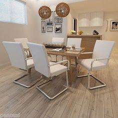 6x Esszimmer Stühle Stuhl Küchenstuhl Esszimmerstuhl Stuhlgruppe Sitzgruppe Weiß