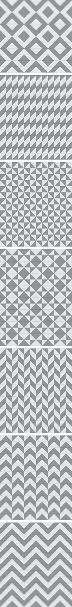 Half Square Triangle Arrangements