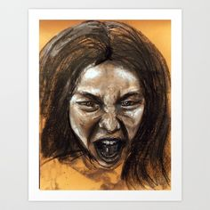 Scream #9 Art Print by Yousef Balat @ Hoop Snake Graphics LLC - $17.00