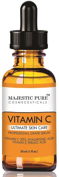 Vitamin C Serum 20% - Premium Quality 30 ml - Best Serum for Your Face Skin - Fights Age Spots, Sun Damage and Dark Circles Under the Eyes - Benefits Skin Tone and Texture, Bringing Back Your Youthful Glow By Neutralizing Free Radicals - Contains Hyaluronic Acid, Vitamin E and Ferulic Acid. Best Anti Aging Serum Moisturizer with Natural Ingredients Including Organic Aloe, Amino Blend and Jojoba Oil - This Anti Wrinkle Serum Serum Will Finally Give You the Results You've Been Looking For…