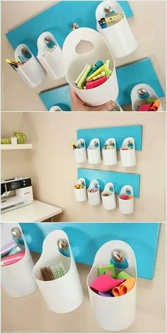 14 Easy DIY Plastic Bottle Projects - Vinyl Bottles are something you'll surely see on your residence, some may be new while some may be old. Plastic Bottle Crafts, Recycle Plastic Bottles, Detergent Bottle Crafts, Eco Deco, Bleach Bottle, Craft Room Storage, Recycled Bottles, Diy Recycle, Diy Home Crafts