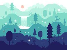 Magic Forest by Alex Pasquarella #Design Popular #Dribbble #shots