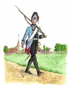 Prussian FreiKorps Regiment von Heer 1760 by Bruce Bassett-Powell www.uniformology.com