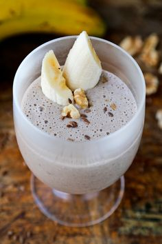 Flaxseed banana smoothie (with coffee and walnuts) #healthy #vegan #vegetarian #gluten-free #soy #milk #recipe #breakfast #fruit #drinks Read more at http://pickledplum.com/flaxseed-banana-smoothie-recipe/