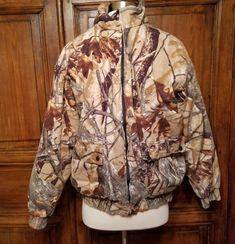 fda91fc3d582a Outfitters Ridge Fusion 3D camo Deer Hunting Coat Size Mens M 38-40 No Hood