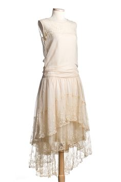 Wedding dress, 1928, made by bride's mother. From the collections of the Charleston Museum
