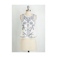 Boho Short Length Sleeveless Epic Whim Top ($20) ❤ liked on Polyvore featuring tops, apparel, sleeveless woven, white, woven top, white tank, white embroidered top, white boho top, embellished tops and sleeveless tank