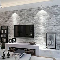 Brick Effect Wallpaper Living Room Google Search Home Brick
