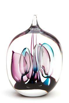 Glass blown beauty - A stunning piece of sculptural artwork Glass Marbles, Glass Bottles, Art Of Glass, Glass Artwork, Perfume, Glass Paperweights, Glass Design, Hand Blown Glass, Colored Glass