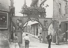 Festa Major Sants, carrer Sagunt. 1947