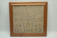 18th Century School Girl Needlework Sampler : Lot 181