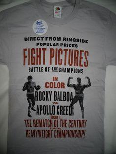 Rocky Movie Rocky Balboa vs Apollo Creed Rematch Fight Poster T-Shirt #Rocky…