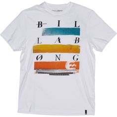 Mens Billabong Oscilate T Shirt - White