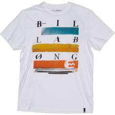 Mens Billabong Oscilate T Shirt - White