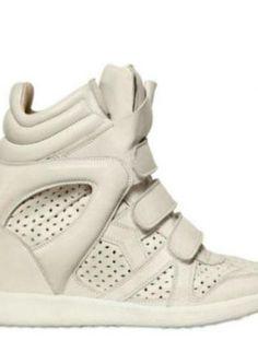 da861f3f5b7 Isabel Marant Baya Calfskin Wedge Sneakers in White - Lyst