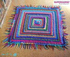Teppiche - Wollteppich l Filzteppich l Häkelteppich - ein Designerstück von HaekelFee-Gerti_G bei DaWanda