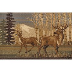 Universal Rugs Northern Wildlife Novelty Lodge Pattern MultiColor Rectangle Area Rug 5 x 7 ** Details can be found by clicking on the image. (This is an affiliate link) Animal Rug, Rectangle Area, Power Loom, Brown Beige, Beige Area Rugs, Rug Making, Rug Runner, Deer, Moose Art