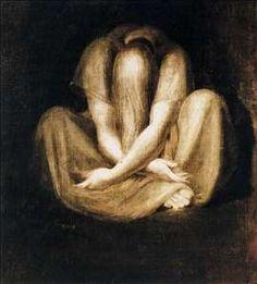 silence by john henry fuseli.  dramatic.