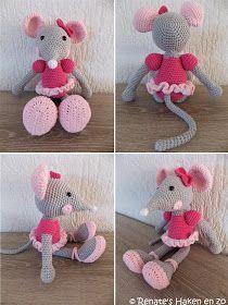 Renates Haken En Zo Ballerina Muis Babyprullen Crochet