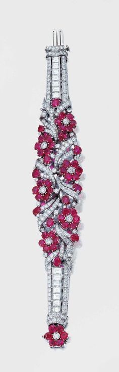 Ruby and Diamond Bracelet - circa 1950