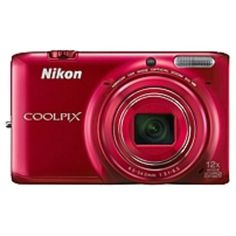 Nikon Coolpix S6500 16 Megapixel Compact Camera - Red - 3 AMOLED - 16:9 - 12x Optical Zoom - 4x - Optical (IS) - 4624 x 3464 Image - 1920 x 1080 Video - HDMI - HD Movie Mode - Wireless LAN - GPS