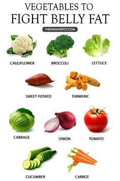 BEST VEGETABLES TO GET RID OF BELLY FAT
