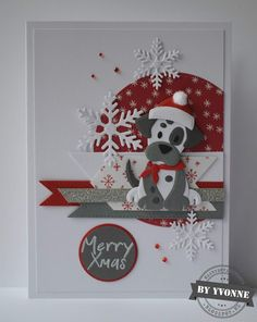 Cards & Sun: 52 weeks to Christmas …… week 10 reminder challenge – christmasdecorationspin. Cat Christmas Cards, Homemade Christmas Cards, Xmas Cards, Homemade Cards, Handmade Christmas, Christmas Diy, Marianne Design Cards, Dog Cards, Winter Cards