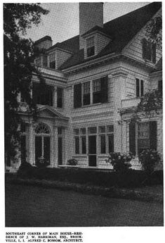 Old Long Island: 'Avondale Farms', the Joseph Wright Harriman estate renovated by Sir Alfred C. Bossom c. 1918 in Brookville.