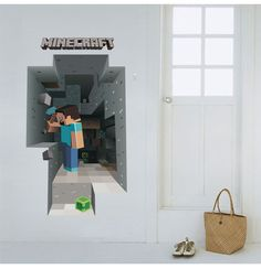 Cheap minecraft wall stickers, Buy Quality sticker for kids room directly from China wall stickers for kids Suppliers: Newest Minecraft Wall Stickers For Kids Rooms Art Mural Minecraft Steve Poster Home Decor Popular Games Wallpaper Wall Decals Wall Decor Stickers, Wall Decals, Minecraft Wall, Minecraft Houses, Kids Room Art, Kids Rooms, Boys Bedroom Decor, Mural Wall Art, Wall Wallpaper