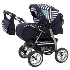 Lux4Kids King 3 in 1 Pram Combi Stroller (car seat, rain cover, mosquito net, beverage tray, mattress, changing mat) 40 Navy Stripes, http://www.amazon.co.uk/dp/B00570XJ2Y/ref=cm_sw_r_pi_awdl_iXq8vb1AC1WGG