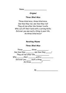 A series of worksheets based on Roald Dahl's Revolting Rhymes in which the children can insert new words into well known nursary rhymes to make them 'revol. Writing Resources, Teaching Resources, Roald Dahl Revolting Rhymes, English Grammar, New Words, Nursery Rhymes, Mice, Blind, Activities For Kids