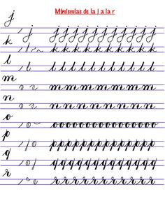 4 Reasons to Learn Handwriting Teaching Cursive, Cursive Handwriting Practice, Pretty Handwriting, Cursive Writing Worksheets, Cursive Alphabet, Improve Handwriting, Handwriting Analysis, Spanish Alphabet, Calligraphy For Beginners
