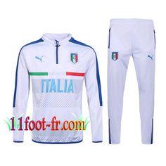 Nouveaux: 11Foot-fr Survetement Italie Homme 2016-17 Blanc