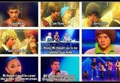 being put together in a group on x factor :') <3