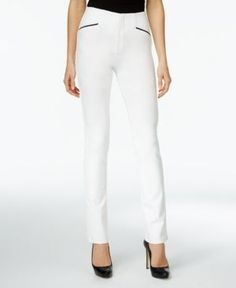 Inc International Concepts Curvy Straight-Leg Pants, Only at Macy's - White 18