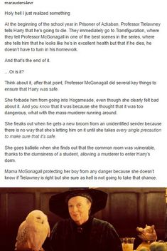 Of course. She reassured Harry that Trelawney was wrong so he could relax and people would chill out but she still kept an eye on him just in case.<< Wasn't there this thing that all the ppl she predicted died in the battle of hogwarts Harry Potter World, Mundo Harry Potter, Harry Potter Books, Harry Potter Love, Harry Potter Universal, Harry Potter Fandom, Harry Potter Memes, Harry Potter Death, Whatsapp Spy