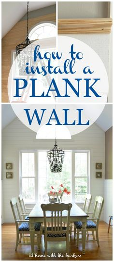 How to Install a Plank Wall for kitchen makeover