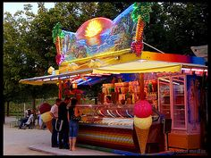 Ice cream shop, Vendome, Paris, France