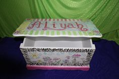 Toy Boxes, Toy Chest, Birthday Parties, 18th, Presents, Party Ideas, Hand Painted, Toys, Unique Jewelry