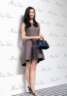 Actress Jing Tian attends Miss Dior exhibition in Shanghai