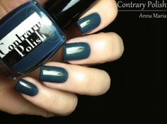 Contrary Polish Anna Maria: Muted grey teal with different sizes of gold, green and copper shimmer, amazing! | from Fashion Polish