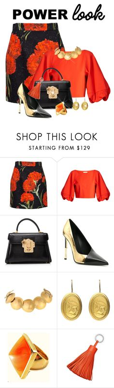 """""""Be Bold! Be Bright!"""" by shamrockclover ❤ liked on Polyvore featuring Dolce&Gabbana, TIBI, Balmain, Robert Lee Morris and Kenneth Jay Lane"""