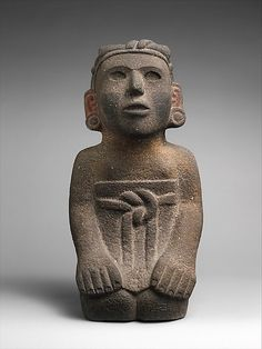 Kneeling Female Figure, 15th–early 16th century.Mexico, Aztec culture.