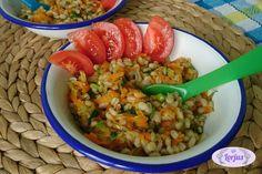 Perlinių kruopų košė su daržovėmis
