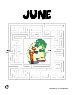 Printable Maze for June