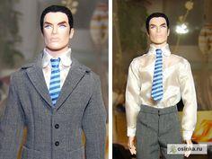 Free Barbie Doll Sewing Pattern: Ken shirt and tie. free pattern