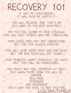 Applies to so many different things. We're all trying to recover from something....